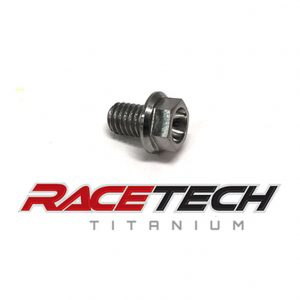 Titanium M6x8 Hex Head Flange Bolt